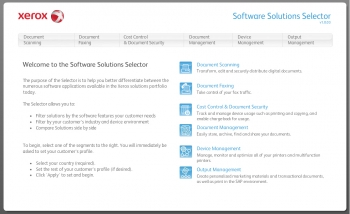 Solutions selector 1